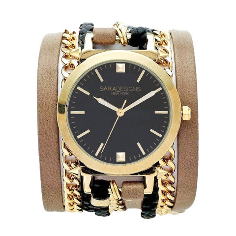 URBAN SPIKE GEO PRINT WRAP WATCH