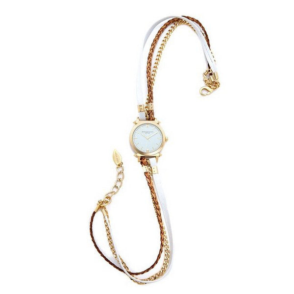 Urban Spike White Wrap Watch Leather Sara Designs