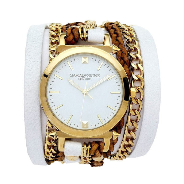 Urban Spike White Wrap Watch Sara Designs