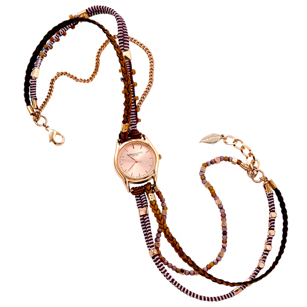 VIOLET ROSE GOLD WRAP WATCH