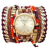 Wine Maasai Wrap Watch Sara Designs