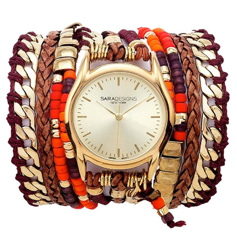 MARIBELLE URBAN SPIKE WRAP WATCH