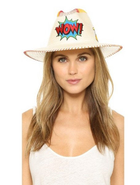 Wow! Patch White Fedora Hat Collection
