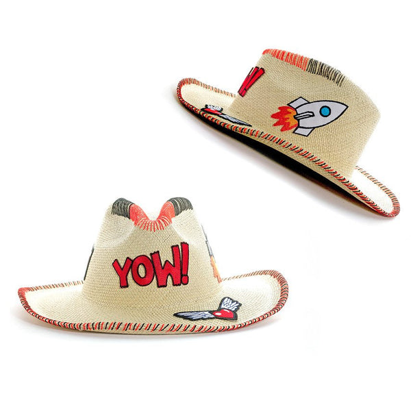 Yow! Patch Natural Fedora Hat Panama Handmade