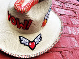 Yow! Patch Natural Fedora Hat Panama Hat Collection