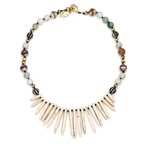 LIDIA CHOKER- BLACK/GOLD