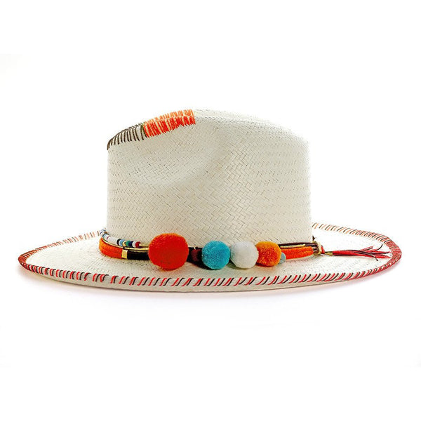 Zoe Racah White Fedora Hat Collection