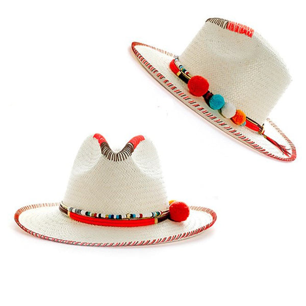 Zoe Racah White Fedora Hat Panama Hat Collection