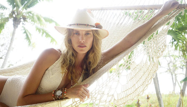 Zoe Taupe White Fedora Hat Panama Hat Collection