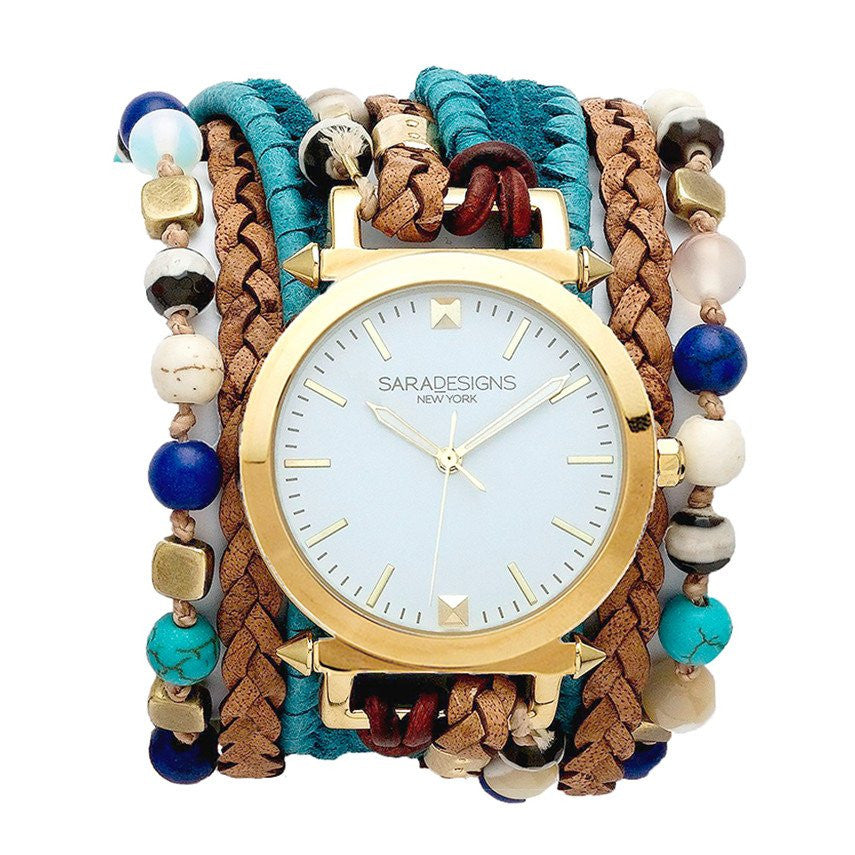 Zoe Teal Wrap Watch Sara Designs