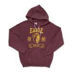 Load image into Gallery viewer, Eagle Pride Distressed Maroon Hoodie Sweatshirt