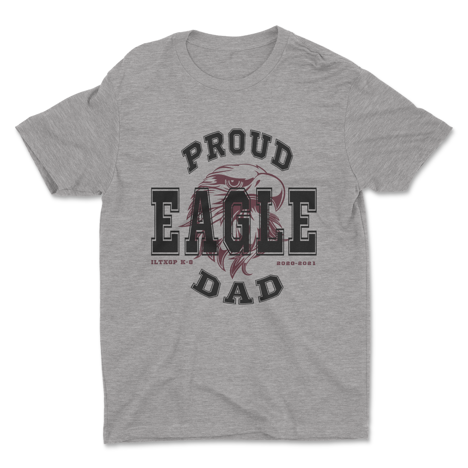 Proud Eagle PTO Dad Heather Grey Shirt - Adult Unisex