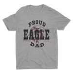 Load image into Gallery viewer, Proud Eagle PTO Dad Heather Grey Shirt - Adult Unisex
