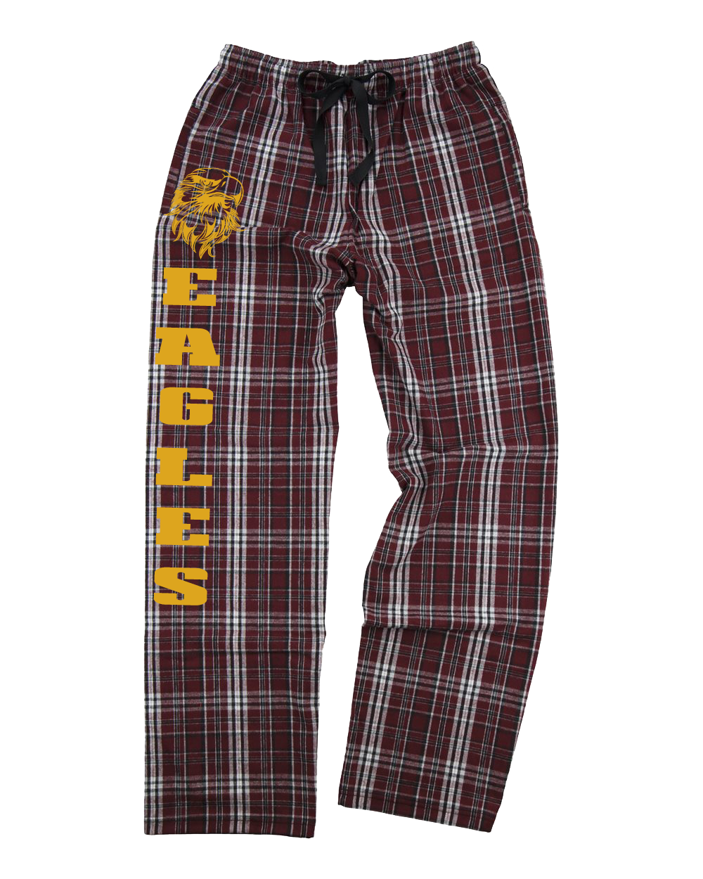 Eagles Maroon and Plaid Flannel Pant