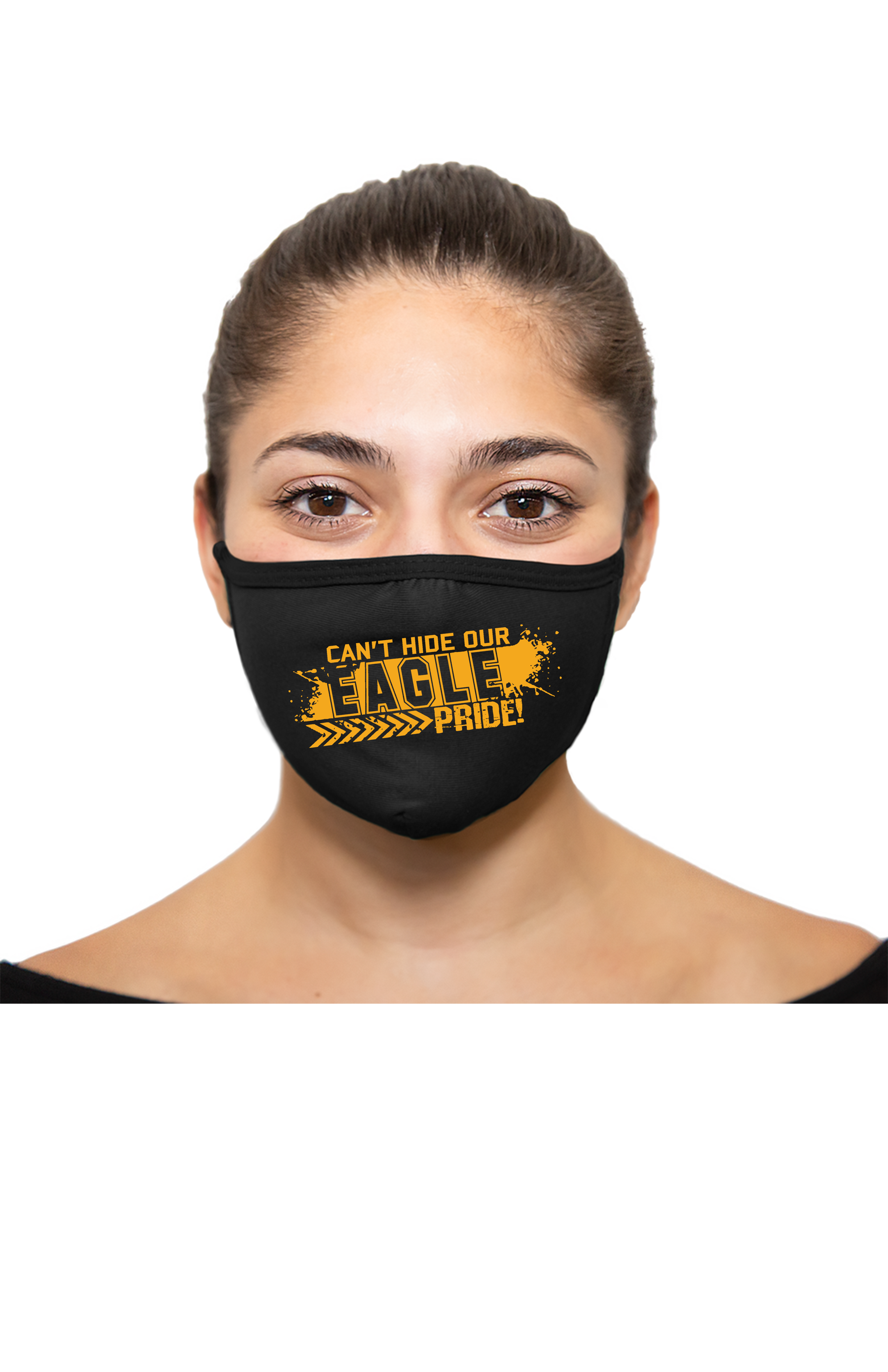 Can't Hide Our Eagle Pride Face Covering - Black