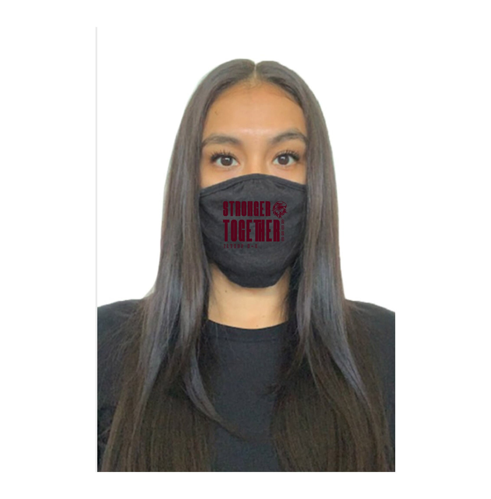 Stronger Together Face Covering - Dark Grey
