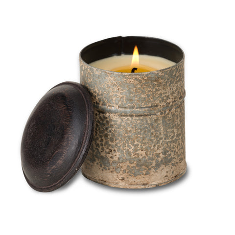 Himalyayan Handmade Soy Candle - Spice Tin White - Tobacco Bark