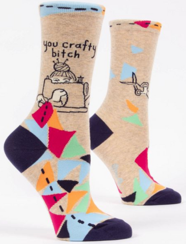 Socks You Crafty Bitch Womens 5-10