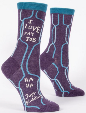 Socks I Love My Job Womens 5-10