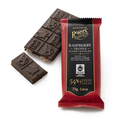 Raspberry Truffle Dark Chocolate Bar