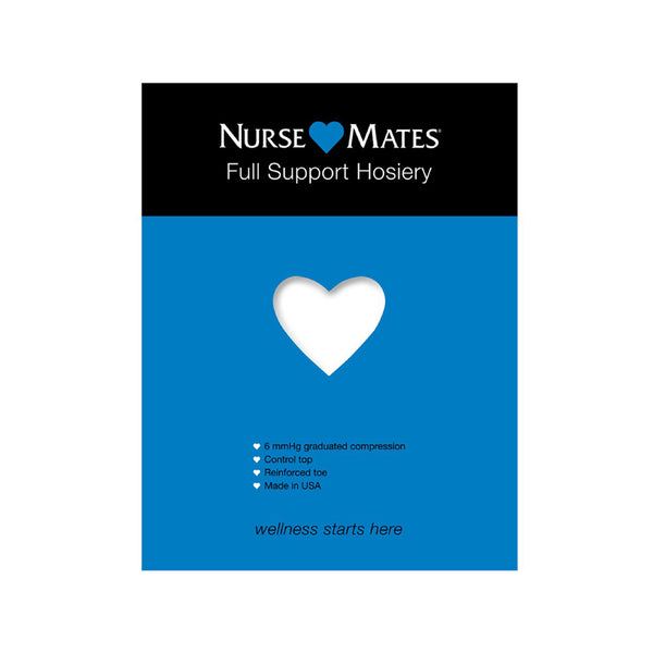 Nurse Mates | 6 mmHg Full Support Hosiery White