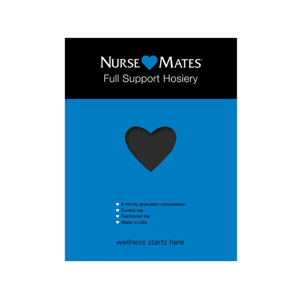 [PRE-ORDER] Nurse Mates | 6 mmHg Full Support Hosiery Black