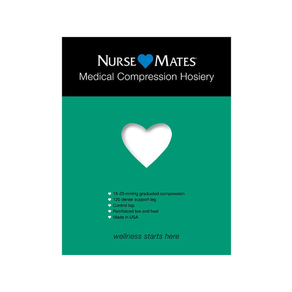 Nurse Mates | 15-20 mmHg Medical Compression Hosiery White