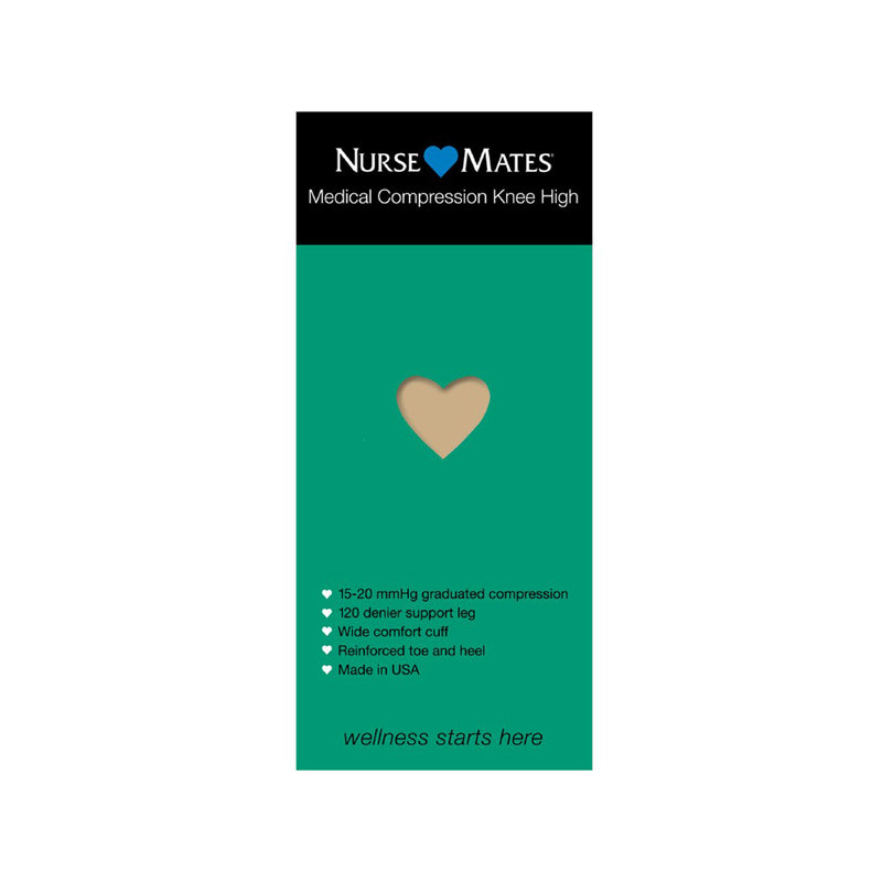 Nurse Mates | 15-20 mmHg Medical Compression Knee High Hosiery Nude