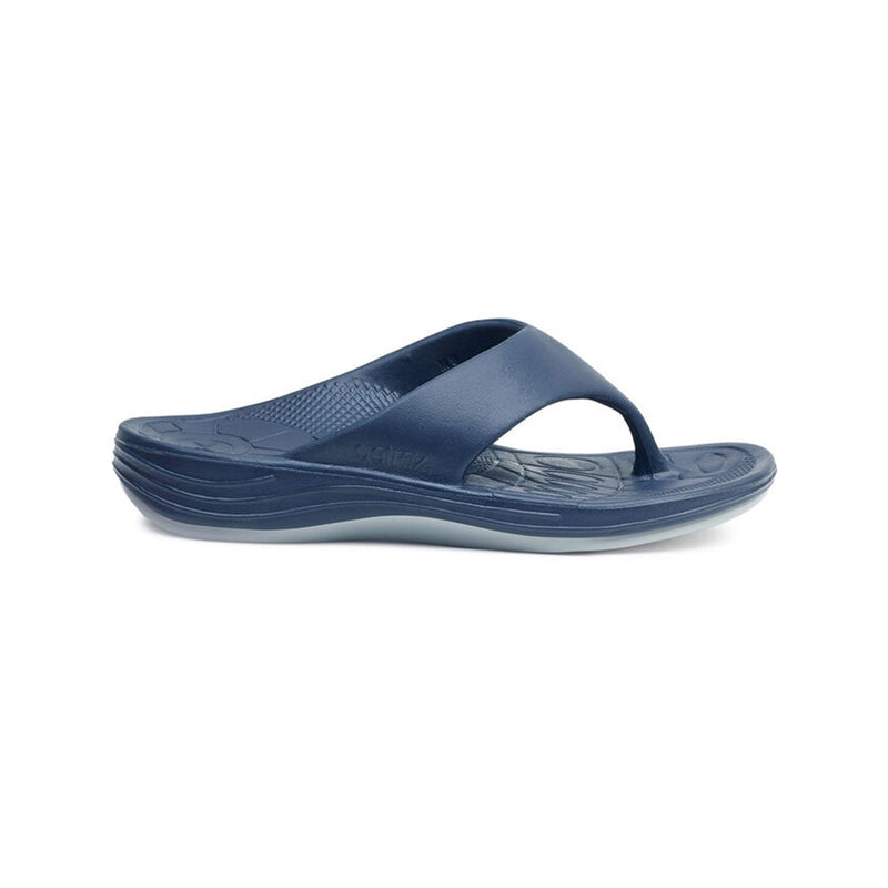 Aetrex | Men's Maui Orthotic Flips Navy