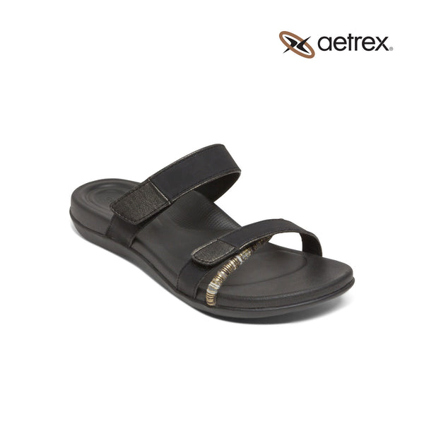 Aetrex | Kori Slide Black
