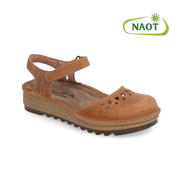 Naot Celosia Latte Brown Leather