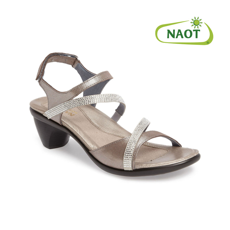 Naot | Innovate Silver Threads & Beige Leather