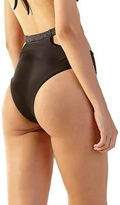 Bottom Curves Preto Lurex