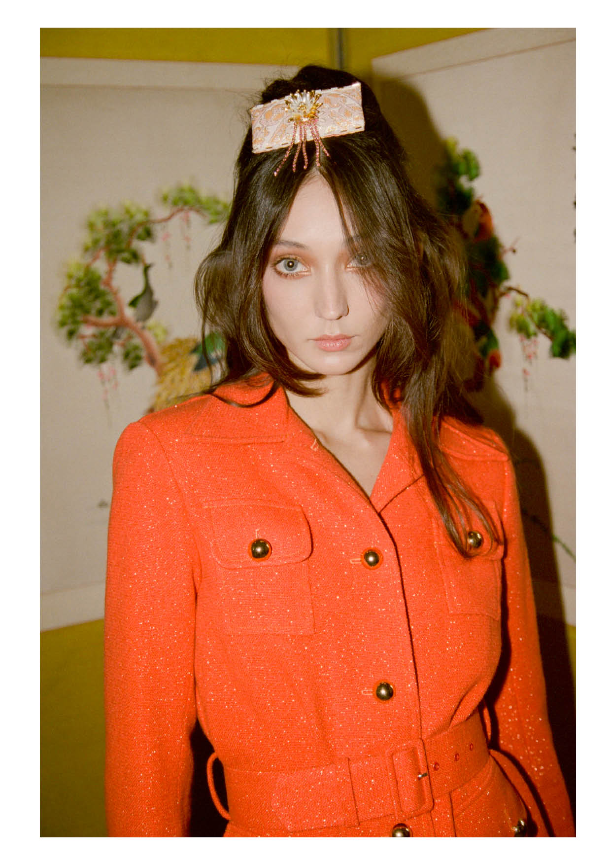 Shimmer Orange wool suit