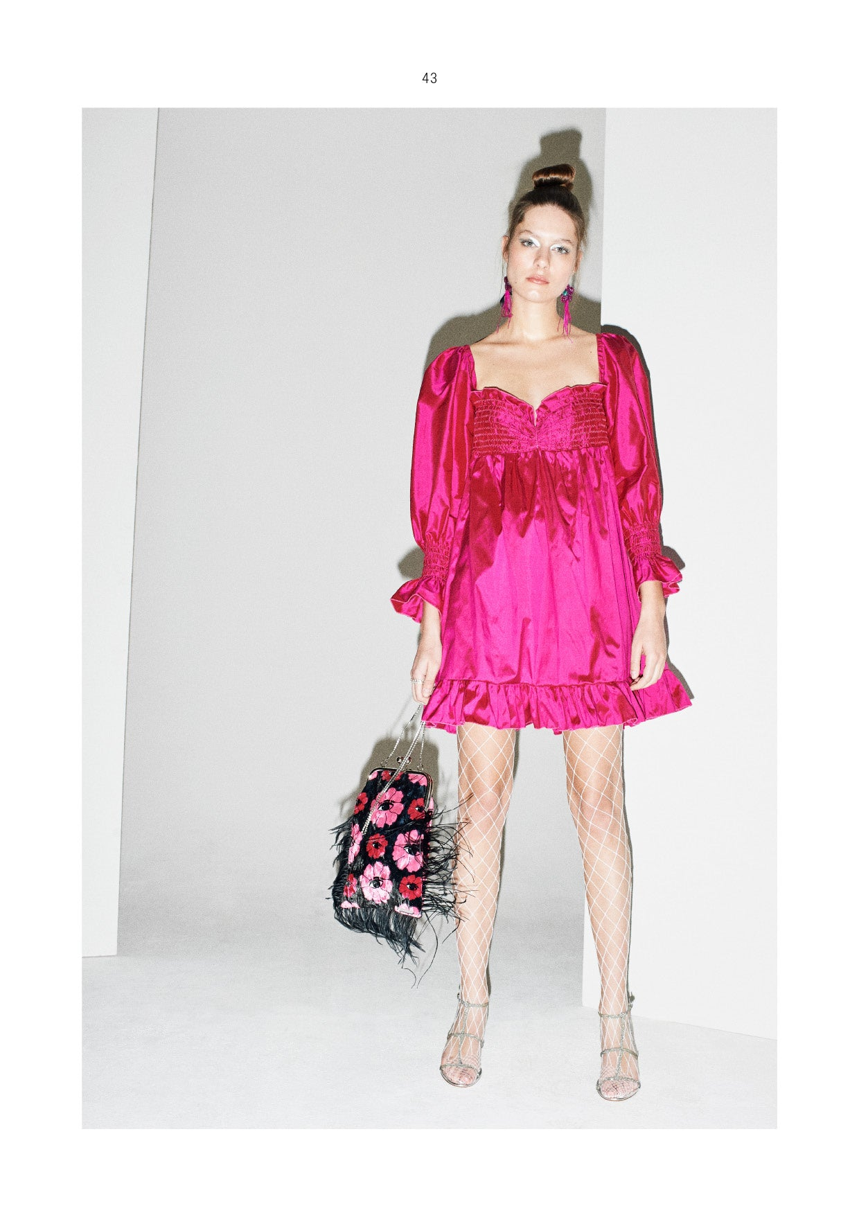 Red Leavers Lace and Pink Silk Blouse