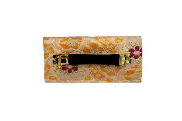 Pre-Order Jeannie Vintage Brocade Gold Tone Embellished Barrette - Women's Accessories : Natalie & Alanna - Women's Clothing & Accesssories