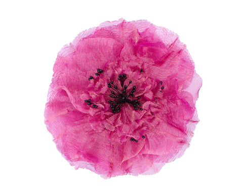 Pre-Order Beah Fuchsia Silk Carnation Flower Brooch - Women's Accessories : Natalie & Alanna - Women's Clothing & Accesssories