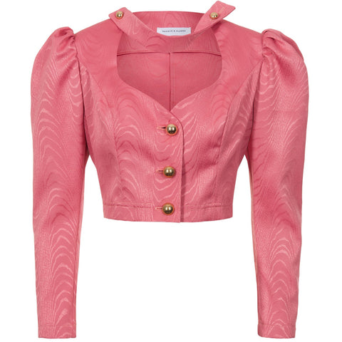 Pre-Order Tammy Cropped Moire Jacket - Women's Jackets : Natalie & Alanna - Women's Clothing & Accesssories