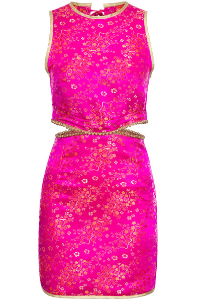 Cher Fuchsia Cutout Mini Dress- Made to Order