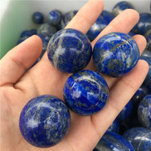 Load image into Gallery viewer, small size Lapis Lazuli handmade Crystal Sphere Gemstone