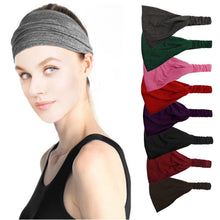 Load image into Gallery viewer, Women Lady Solid Color Lace Wide Elastic Headband