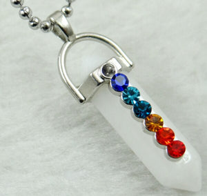 Natural stone Pendant stainless steel Necklace's