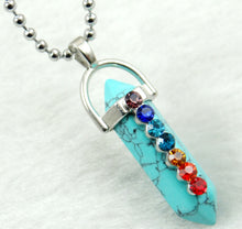 Load image into Gallery viewer, Natural stone Pendant stainless steel Necklace's