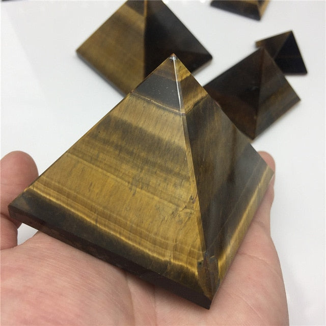Natural Crystal Pyramids