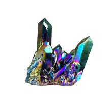 Load image into Gallery viewer, Natural Quartz Crystal Rainbow Titanium Cluster