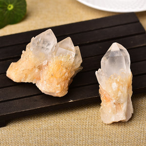 Natural Raw Quartz White Clear Crystal Cluster
