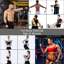 Load image into Gallery viewer, 11Pcs/Set Latex Resistance Bands Crossfit Training Exercise