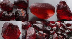 Top Quality  Natural 6 * 8 MM Oval Cut Garnet Loose Gemstone