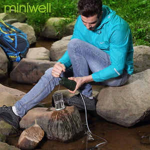 hiking backpacker gear miniwell outdoor water filtration