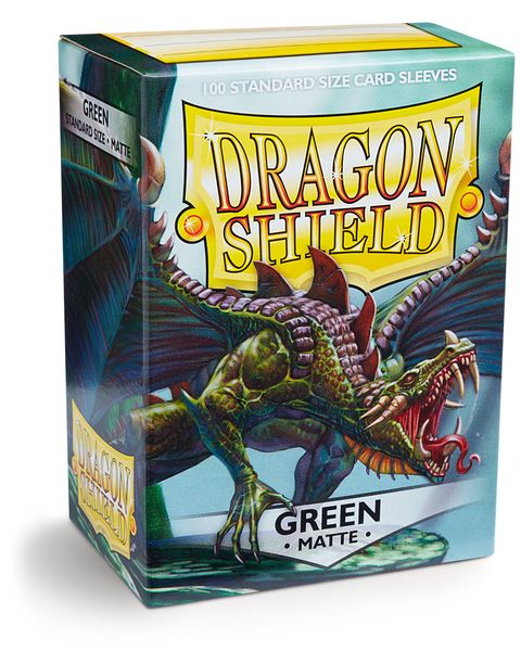 Dragon Shield 100ct Box Deck Protector Matte Green